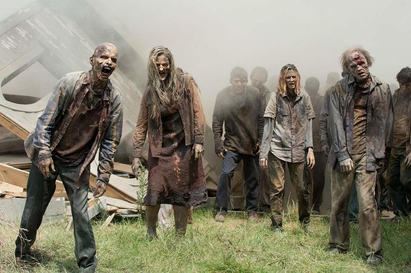 Walking Dead VR scene