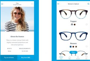 Warby Parker's app